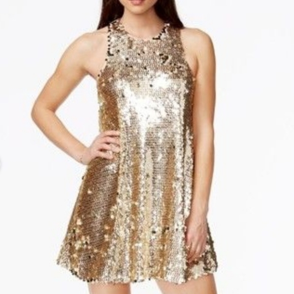 GUESS Rose Gold Multi-Sequin Dress
